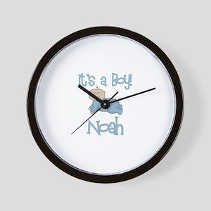 Noah - It's a Boy  Wall Clock