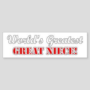 World's Greatest Great Niece Bumper Sticker