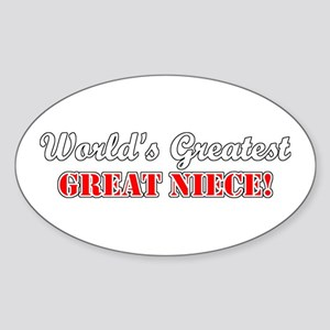 World's Greatest Great Niece Oval Sticker