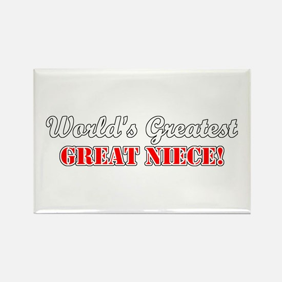 World's Greatest Great Niece Rectangle Magnet (100