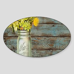 mason jar floral barn wood Sticker