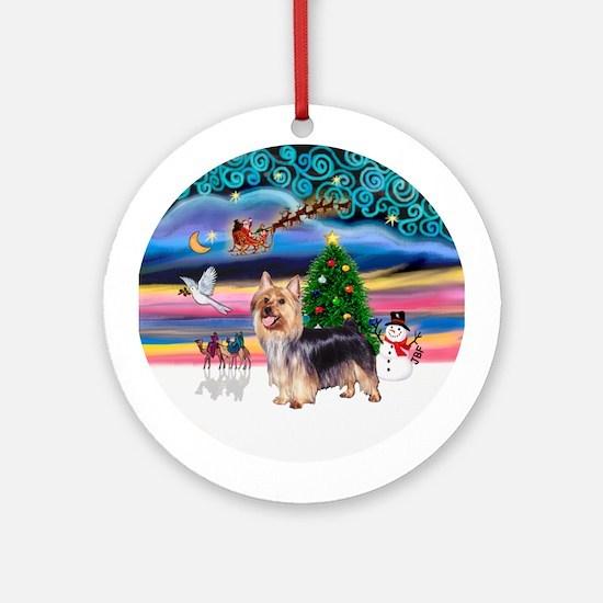 Xmas Magic & Silky #9 Ornament (Round)