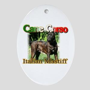 Cane Corso Italiano Oval Ornament