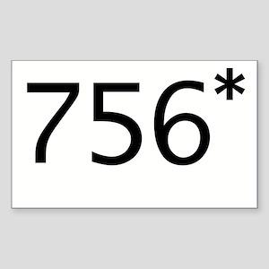 756* Rectangle Sticker