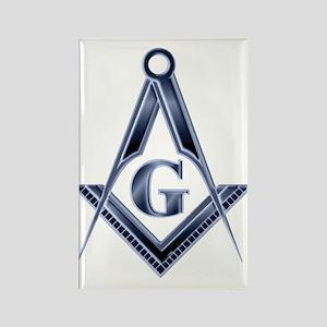 The Blue Masonic Lodge Rectangle Magnet