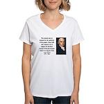 James Madison 10 Women's V-Neck T-Shirt