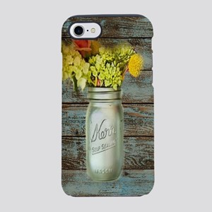 mason jar flowers barnwood iPhone 8/7 Tough Case