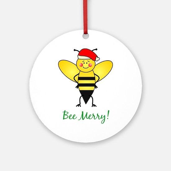 Bee Merry Ornament (Round)