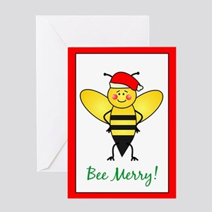 Bee Merry Greeting Card