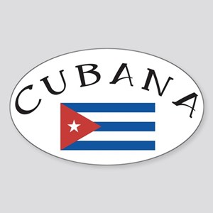 CUBANA Oval Sticker