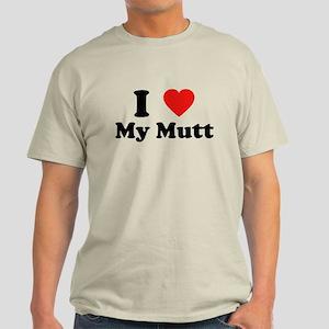 I Love My Mutt Light T-Shirt