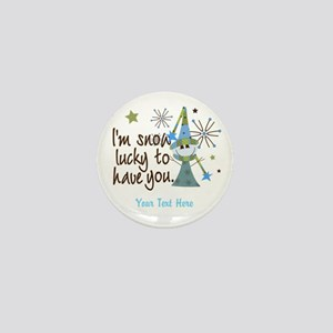 Personalized Snow Lucky Mini Button