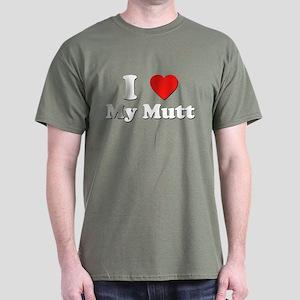 I Love My Mutt Dark T-Shirt