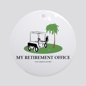 Golf Retirement Ornament (Round)