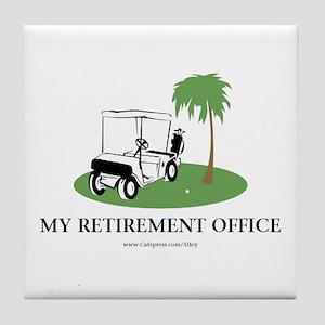 Golf Retirement Tile Coaster