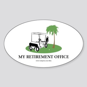 Golf Retirement Oval Sticker