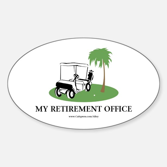 Golf Retirement Oval Decal