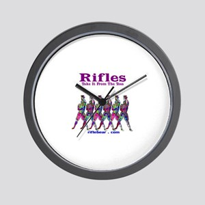 Rifles....Take it from the toss Wall Clock