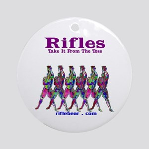 Rifles....Take it from the toss Ornament (Round)