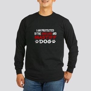Protected By Mastiff Long Sleeve Dark T-Shirt
