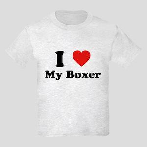 I Love My Boxer Kids Light T-Shirt