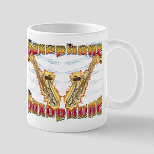 Flaming Sax Mug