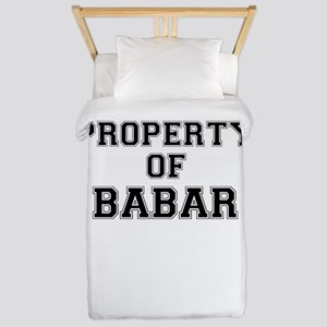 Property of BABAR Twin Duvet