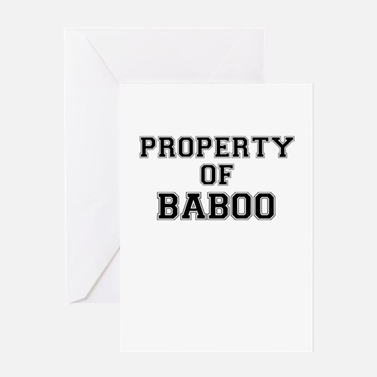 Property of BABOO Greeting Cards