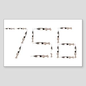 756 Syringes Rectangle Sticker