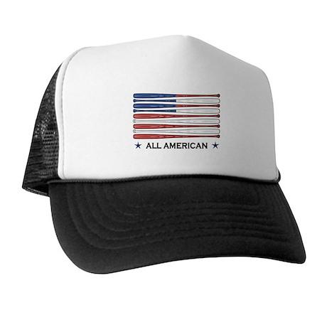 Baseball Flag Trucker Hat