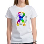 Autism Puzzle Ribbon Women's T-Shirt