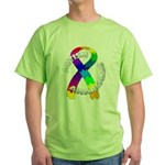 Autism Puzzle Ribbon Green T-Shirt