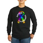 Autism Puzzle Ribbon Long Sleeve Dark T-Shirt