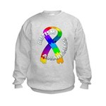 Autism Puzzle Ribbon Kids Sweatshirt