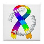Autism Puzzle Ribbon Tile Coaster
