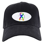 Autism Puzzle Ribbon Black Cap