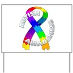 Autism Puzzle Ribbon Yard Sign