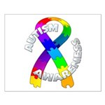 Autism Puzzle Ribbon Small Poster