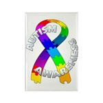 Autism Puzzle Ribbon Rectangle Magnet (100 pack)