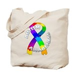Autism Puzzle Ribbon Tote Bag