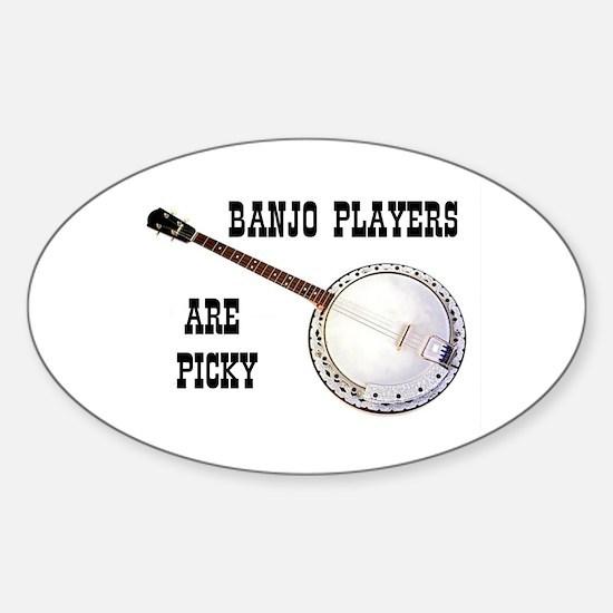 BANJO Oval Bumper Stickers