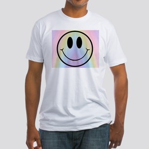 Rainbow Smiley Fitted T-Shirt