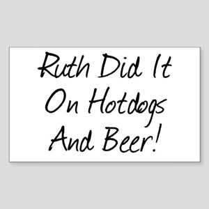 Ruth Did It On Hotdogs And B Sticker (Rectangular