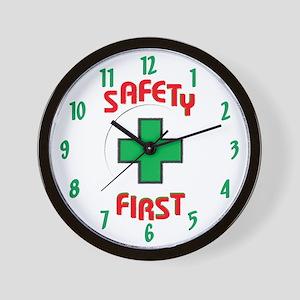 Safety First Cross Wall Clock