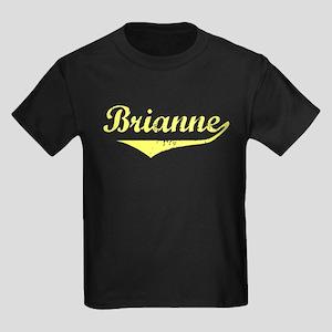 Brianne Vintage (Gold) Kids Dark T-Shirt