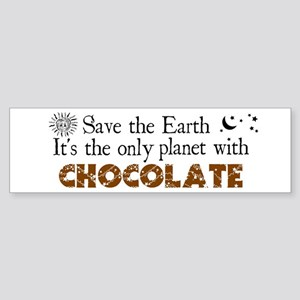 Chocolate Earth Bumper Sticker