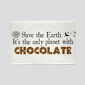 Chocolate Earth Rectangle Magnet
