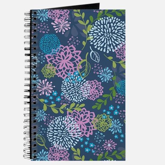 Blue Floral Burst Pattern Journal