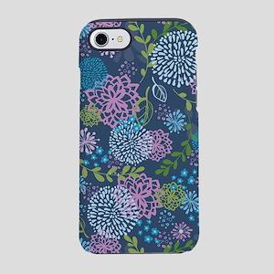 Blue Floral Burst Pattern iPhone 8/7 Tough Case