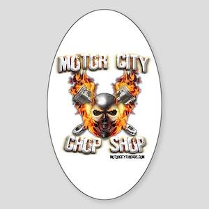 Motor City Chopper Shop Oval Sticker